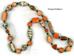 Home made beaded necklace