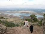 Ann and Jezze above Horsetooth Reservoir