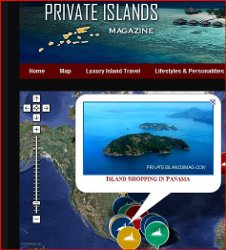 Private Islands Magazine Map